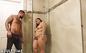 Karla Lane steamy shower sex with lover
