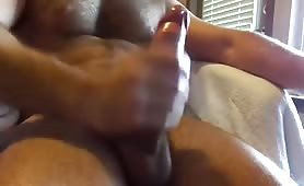A hot hairy man getting off
