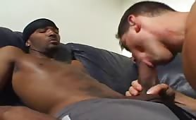 Black stud on white dude ass