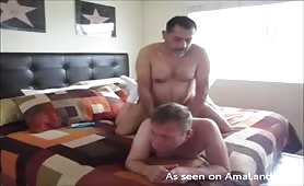 Bearded daddy fucks his lover in the ass