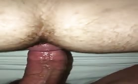 Fuck me till you cum in my hairy asshole