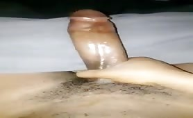 Stroking my hot dominican cock