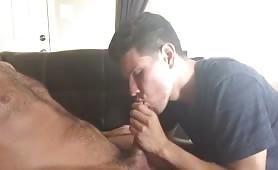 Sucking a hot dad to get a little cash