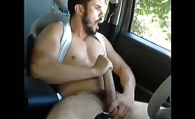 Caught masturbating in the car