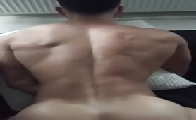 Big white cock nailing a sexy muscle white butt