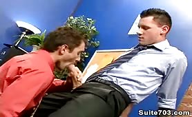 Sucking my new boss's cock for more money