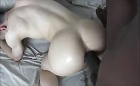 Amazing bubble butt bottom getting nailed by a big black cock