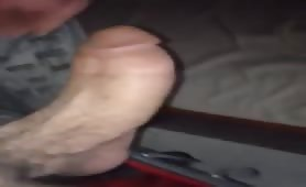 Playing with my thick cock before I go to sleep