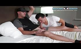 Playing with a young guy 10 inch cock