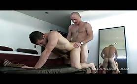 Beautiful macho top butt fucks a horny stud
