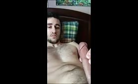 Huge cock and drenching load of cum