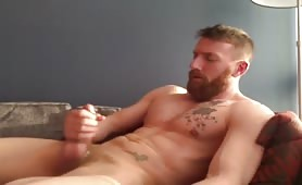 Straight married stud having some fun time with himself