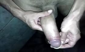 Huge tasty cock fucking with a condom