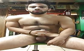 Sexy young hunk jerking off