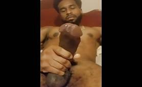 Hot black stud is proud to show his huge monster