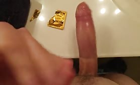 Shooting a huge load on the table