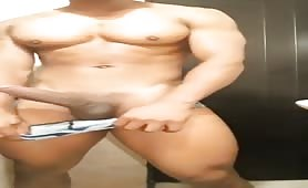 Muscled monster cock latino