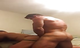 Muscle daddy fucks me hard after work