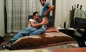 Horny bearded Arab dudes enjoying hard afternoon of sex